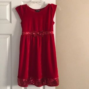 Nice red little girl large George dress size 10-12
